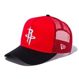 ニューエラ キャップ NEW ERA NBA ヒューストン・ロケッツ レッド ブラック 9Forty D-Frame Trucker / Dフレーム トラッカー メッシュ / メンズ レディース 帽子 / Houston Rockets