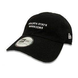 Rakuten Sportszone別注 New Era(ニューエラ) ゴールデンステート・ウォリアーズ CASUAL CLASSIC キャップ ブラック / メンズ・レディース兼用 カジュアル 帽子 / Goldenstate Warriors /