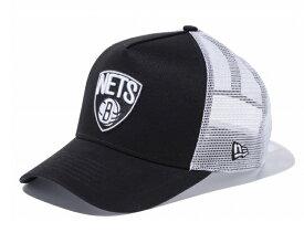 ニューエラ メッシュ キャップ NEW ERA NBA ブルックリン ネッツ ブラック 9FORTY A-Frame Trucker トラッカー / メンズ帽子 Brooklyn Nets