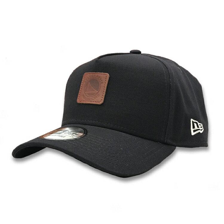 【NEW ERA x Rakuten別注】ニューエラ 9Forty A-Frame キャップ NBA ゴールデンステート・ウォリアーズ レザーパッチ / メンズ レディース兼用 帽子