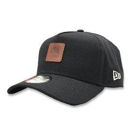 【NEW ERA x Rakuten別注】ニューエラ 9Forty A-Frame キャップ NBA ゴールデンステート・ウォリアーズ レザーパッチ ダークネイビー / メンズ レディース兼用 帽子