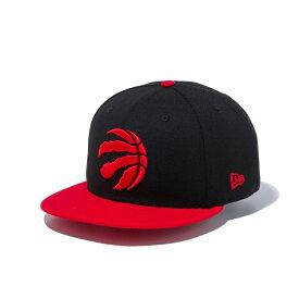 ニューエラ キャップ New Era NBA トロント ラプターズ ブラック× チームカラー 9FIFTY /帽子 メンズ バスケットボール Toronto Raptors