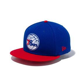 ニューエラ キャップ New Era NBA フィラデルフィア セブンティシクサーズ ブルー× チームカラー 9FIFTY /帽子 メンズ バスケットボール