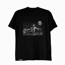 FCバルセロナ×イニエスタ Tシャツ 2009 ブラック / メンズ レディース ヴィッセル神戸×バルサ