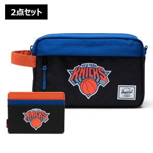 【2点セット】NBA New York Knicks カードケース&トラベルポーチ Herschel Supply(ハーシェルサプライ)Chapter Travel Kit & Charlie Wallet / ニューヨーク・ニックス 財布