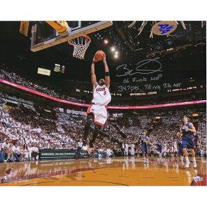 ドウェイン・ウェイド 直筆サイン入り 16x20インチ フォトポスター 世界25枚限定 NBA マイアミ・ヒート 【フレームなし】 / Dwyane Wade Miami Heat Autographed 16x20 Photograph with Multiple Inscriptions - Limited Edi