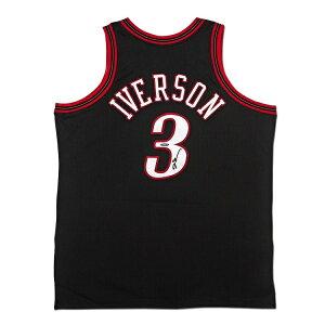 アレン・アイバーソン 直筆サイン入り ミッチェル&ネス オーセンティックジャージー NBA 76ers(セブンティシクサーズ) 【フレームなし】 / ALLEN IVERSON AUTOGRAPHED 1997 PHILADELPHIA 76ERS BLACK AUTHENTIC