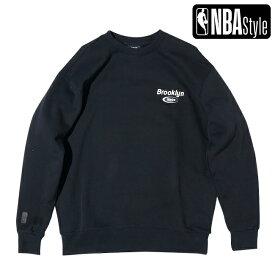 【NBA Style AW】Brooklyn Nets ルーズフィット チームロゴ スウェット