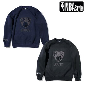 【NBA Style AW】Brooklyn Nets チームロゴ スウェット スウェード&ファー