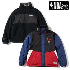 【NBA Style AW】Chicago Bulls Hardwood Classic プレミアム ダウンジャケット リバーシブル / シカゴ ブルズ