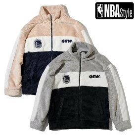 【NBA Style AW】Golden State Warriors 3ブロック フリース ジップアップジャケット / ゴールデンステート ウォリアーズ
