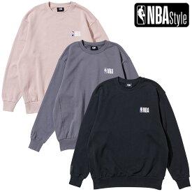 【最大650円OFFクーポン】【NBA Style 2021 SS】 NBA ロゴ カラースウェットシャツ / NBA PLAYコレクション / ライトピンク グレー ブラック