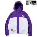【NBA Style 2021 SS】 HARDWOOD CLASSICS Los Angeles Lakers カラーブロックジャケット / ロサンゼルス・レイカーズ…