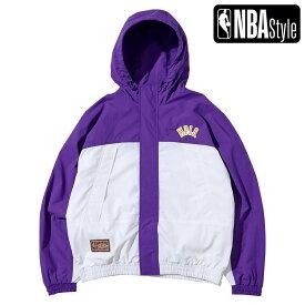 【NBA Style 2021 SS】 HARDWOOD CLASSICS Los Angeles Lakers カラーブロックジャケット / ロサンゼルス・レイカーズ