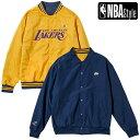 【NBA Style 2021 SS】 Los Angeles Lakers リバーシブル チームジャケット / ロサンゼルス・レイカーズ