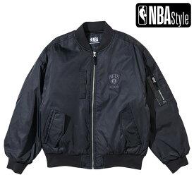 【NBA Style 2021 SS】 Brooklyn Nets オーバーフィット MA-1 ジャケット / ブルックリン・ネッツ