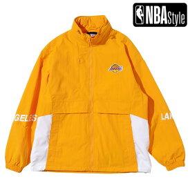 【NBA Style 2021 SS】 Los Angeles Lakers ブロックスタイル チームジャケット / ロサンゼルス・レイカーズ