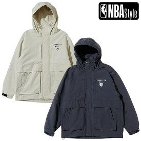 【NBA Style 2021 SS】 Brooklyn Nets アウトポケット フードジャケット / ブルックリン・ネッツ OPENINGSALE