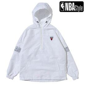【NBA Style 2021 SS】 Chicago Bulls ハーフジップ カラーアノラックフーディ / シカゴ・ブルズ OPENINGSALE