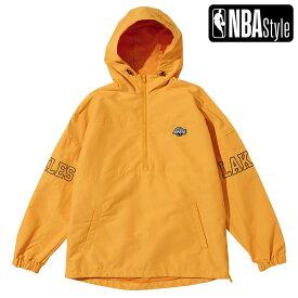【NBA Style 2021 SS】 Los Angeles Lakers カラーアノラックフーディー / ロサンゼルス・レイカーズ