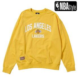 【NBA Style 2021 SS】 Los Angeles Lakers Hardwood Classics オーバーフィット ロゴスウェットシャツ / ロサンゼルス・レイカーズ