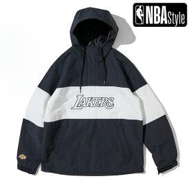 【NBA Style 2021 SS】 Los Angeles Lakers カラーブロックド アノラックフーディー / ロサンゼルス・レイカーズ