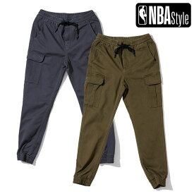 【NBA Style 2021 SS】 NBA ロゴ カラーデニム ジョガーパンツ