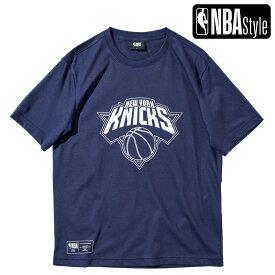 【最大650円OFFクーポン】【NBA Style 2021 SS】 New York Knicks ビッグロゴ レギュラーフィット Tシャツ / ニューヨーク・ニックス
