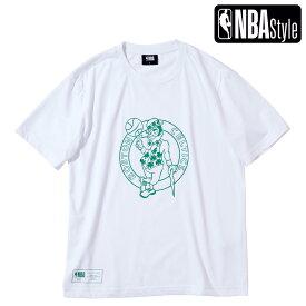 【NBA Style 2021 SS】 Boston Celtics ビッグロゴ レギュラーフィット Tシャツ / ボストン・セルティックス
