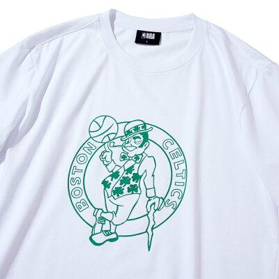 【NBAStyle2021SS】BostonCelticsビッグロゴレギュラーフィットTシャツ