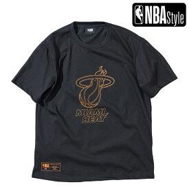 【NBA Style 2021 SS】 Miami Heat ビッグロゴ レギュラーフィット Tシャツ / マイアミ・ヒート