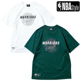 【NBA Style 2021 SS】 Golden State Warriors チームロゴ レギュラーフィット Tシャツ / ゴールデンステート・ウォリアーズ