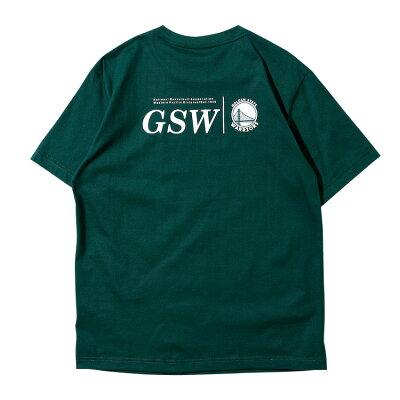 【NBAStyle2021SS】GoldenStateWarriorsチームロゴレギュラーフィットTシャツ