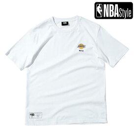 【NBA Style 2021 SS】 Los Angeles Lakers スモールロゴ レギュラーフィット Tシャツ