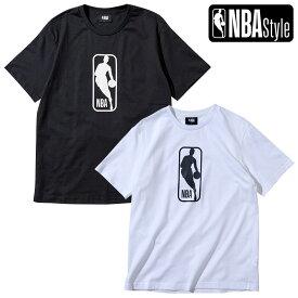【最大650円OFFクーポン】【NBA Style 2021 SS】 NBA ビッグロゴマン レギュラーフィット Tシャツ / ブラック ホワイト