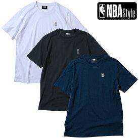 【NBA Style 2021 SS】 NBA スモールロゴマン レギュラーフィット Tシャツ / ホワイト ブラック ネイビー / OPENINGSALE