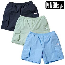 【NBA Style 2021 SS】 NBAロゴ カラーハーフパンツ NBA PLAY Collection / ブラック ミント スカイブルー