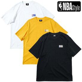 【NBA Style 2021 SS】 NBAロゴ ルーズフィットTシャツ NBA PLAY Collection / ホワイト ブラック イエロー OPENINGSALE
