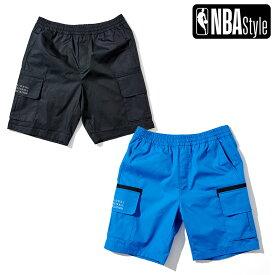 【NBA Style 2021 SS】 NBA カーゴポケット ナイロンショートパンツ / ハーフパンツ OPENINGSALE