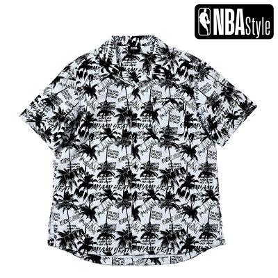 MiamiHeatパームプリントシャツ