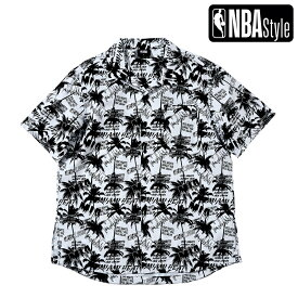 【NBA Style 2021 SS】 Miami Heat パームプリント シャツ / マイアミ・ヒート アロハシャツ