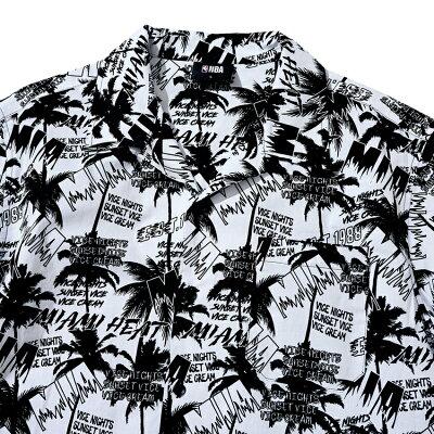 【NBAStyle2021SS】MiamiHeatパームプリントシャツ