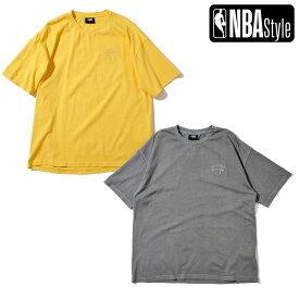 【NBA Style 2021 SS】 New York Knicks ピグメントダイイング オーバーサイズTシャツ / ニューヨーク・ニックス / イエロー グレー