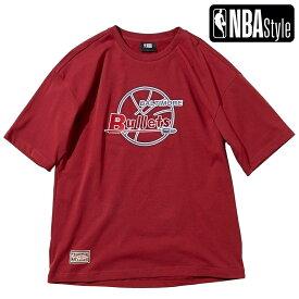 【NBA Style 2021 SS】 Hardwood Classics Washington Bullets (Wizards) ビッグロゴ ルーズフィットTシャツ / ワシントン・ウィザーズ