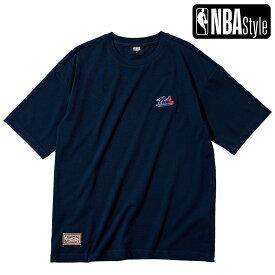 【NBA Style 2021 SS】 Hardwood Classics Brooklyn Nets スモールロゴ ルーズフィットTシャツ / ブルックリン・ネッツ