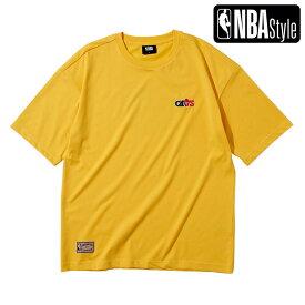 【NBA Style 2021 SS】 Hardwood Classics Cleveland Cavaliers スモールロゴ ルーズフィットTシャツ / クリーブランド・キャバリアーズ