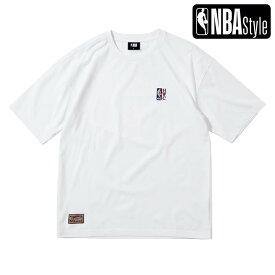 【NBA Style 2021 SS】 Hardwood Classics NBA スモールロゴ ルーズフィットTシャツ