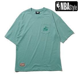 【NBA Style 2021 SS】 Hardwood Classics Seattle Super Sonics ポケット ルーズフィットTシャツ / シアトル・スーパーソニックス (Oklahoma City Thunder)