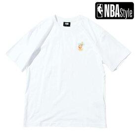 【NBA Style 2021 SS】 Miami Heat カラフルアートワーク ルーズフィットTシャツ / マイアミ・ヒート