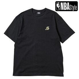【NBA Style 2021 SS】 Los Angeles Lakers カラフルアートワーク ルーズフィットTシャツ